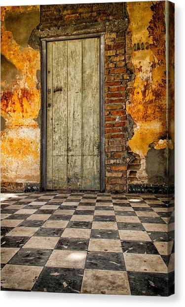 Checkered Floor Canvas Print