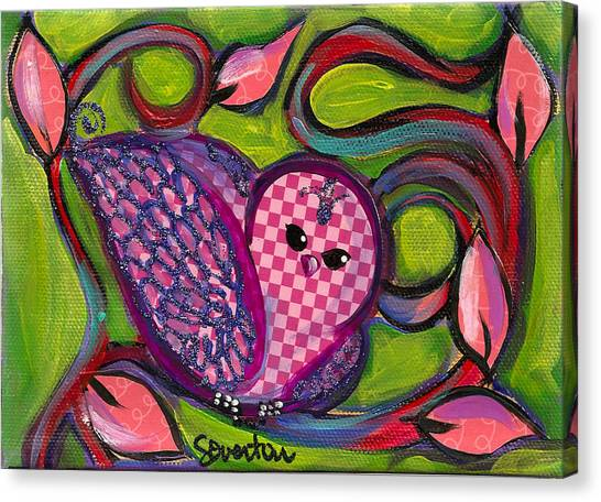 Checkers Birdy Canvas Print
