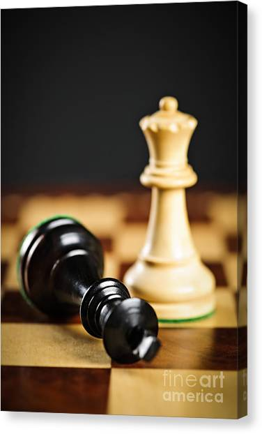 Chess King Canvas Print - Checkmate In Chess by Elena Elisseeva