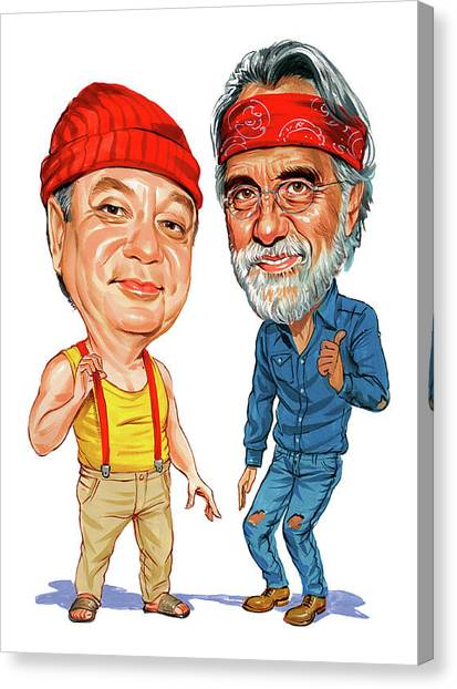 Marijuana Canvas Print - Cheech Marin And Tommy Chong As Cheech And Chong by Art