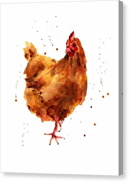 Chickens Canvas Print - Cheeky Chicken by Alison Fennell