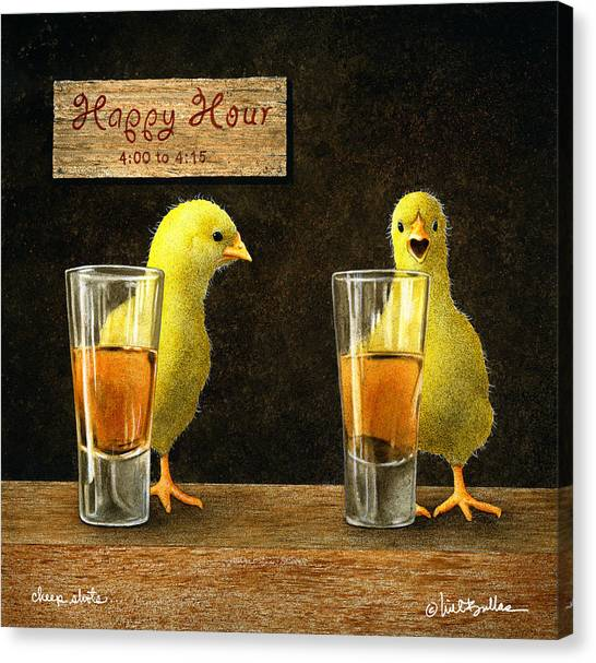 Cheep Shots... Canvas Print