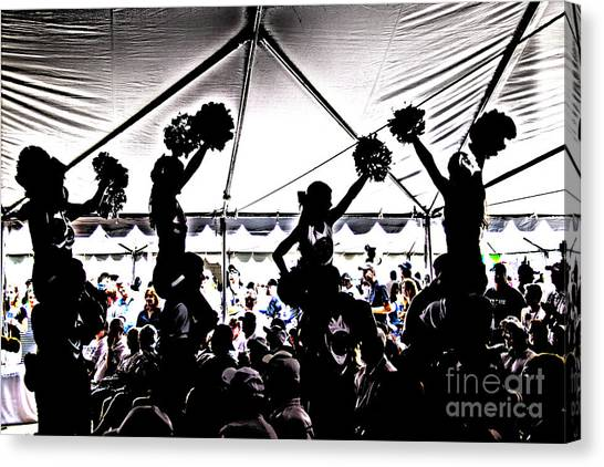 Cheerleading Canvas Print - Cheer Silhouette by Tom Gari Gallery-Three-Photography