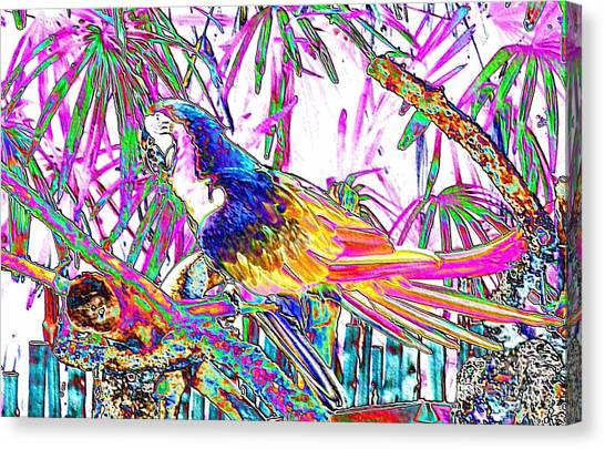 Cheerful Parrot. Colorful Art Collection. Promotion - August 2015 Canvas Print