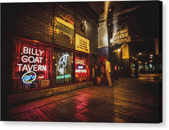 Cheezborger Cheezborger At Billy Goat Tavern Canvas Print