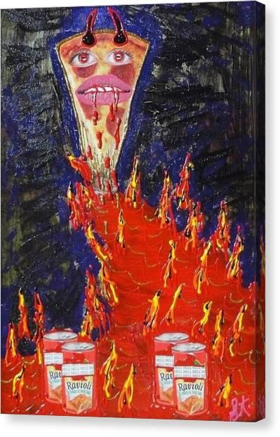 Jasper Johns Canvas Print - Pizza by Lisa Piper