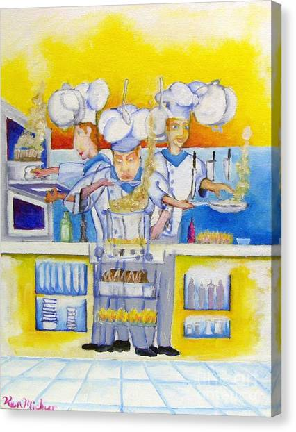 Chef's Kitchen Canvas Print by Kenneth Michur