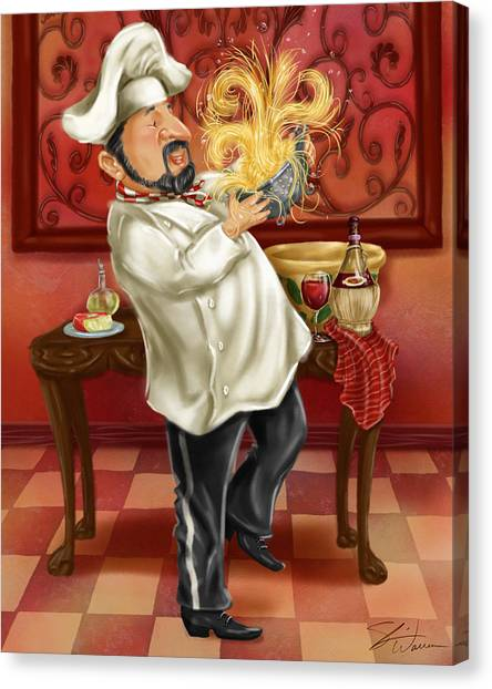 Chefs With Wine IIi Canvas Print