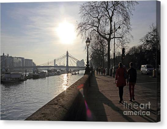 Chelsea Embankment London Uk Canvas Print