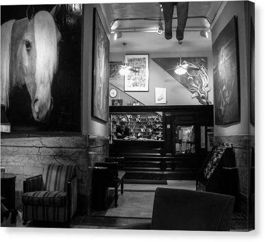 Chelsea Hotel Night Clerk Canvas Print