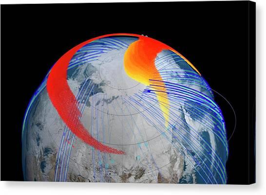Satellite Canvas Print - Chelyabinsk Meteor Explosion by Nasa's Goddard Space Flight Center