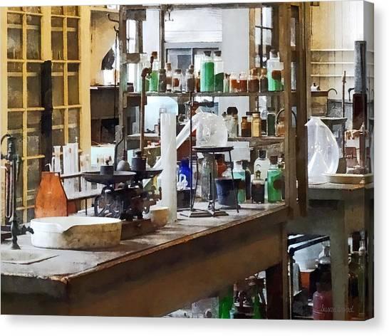Balance Beam Canvas Print - Chem Lab by Susan Savad