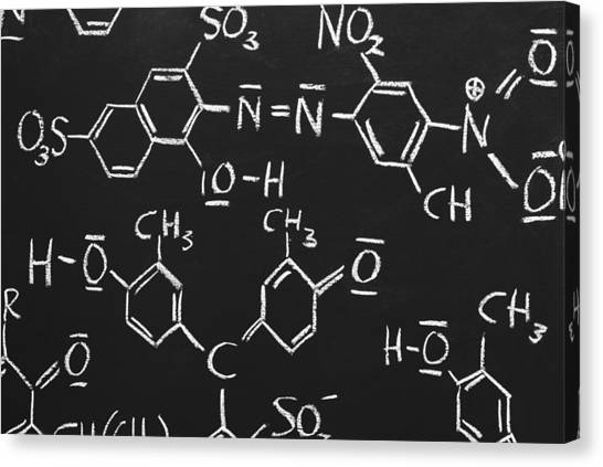 Chemical Formulas Canvas Print