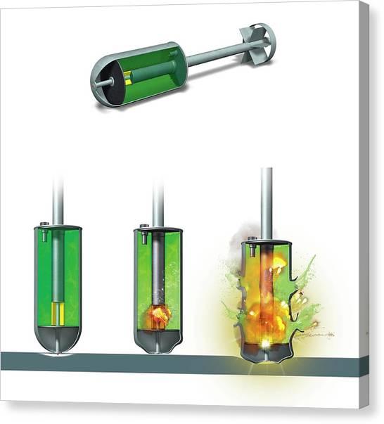 Warheads Canvas Print - Chemical Warhead by Claus Lunau
