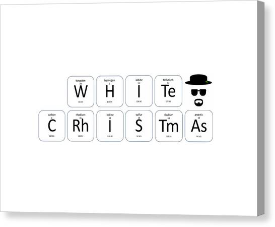 Chemistry - White Christmas Canvas Print