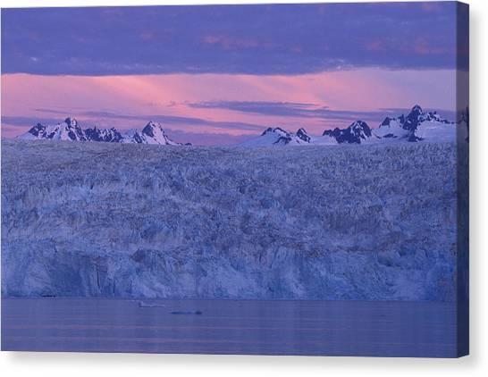 Chenega Glacier At Sunrise Canvas Print by Tim Grams