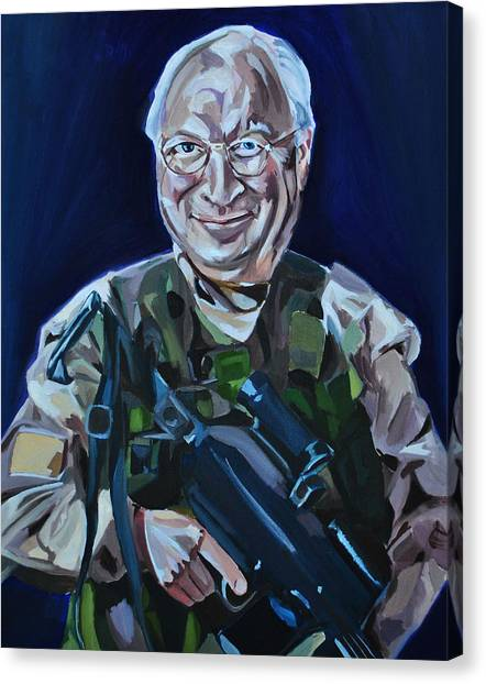 Dick Cheney Canvas Print - Cheneys Got A Gun by Stuart Black