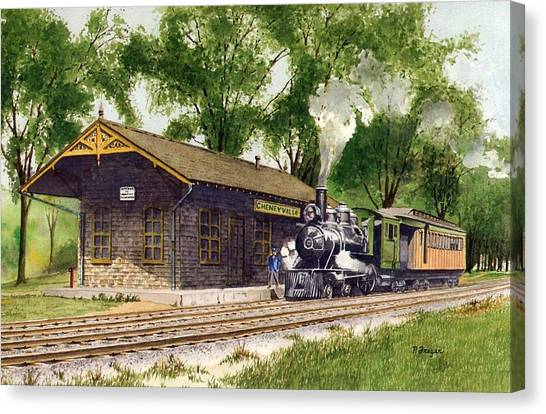 Cheneyville Station Canvas Print