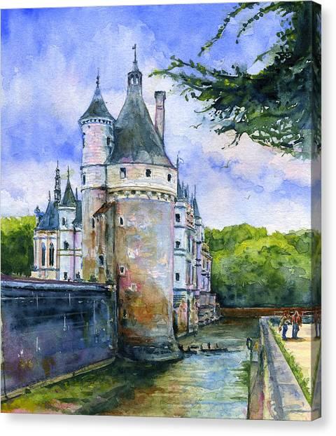 Chenonceau Castle Canvas Print - Chenonceau Castle France by John D Benson