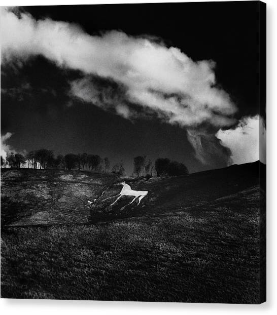 Canvas Print - Cherhill White Horse Wiltshire by Mark Preston