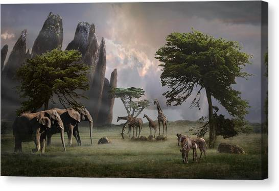 Canvas Print featuring the photograph Cherish Our Earth's Creatures by Melinda Hughes-Berland