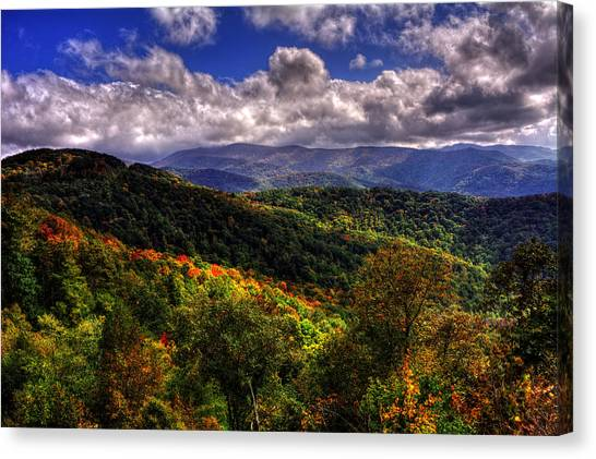 Cherohala Skyway Brushy Ridge Overlook Canvas Print