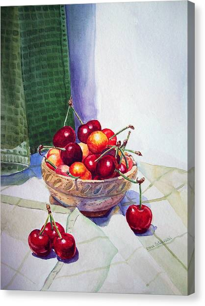 Irina Canvas Print - Cherries by Irina Sztukowski