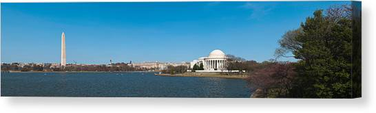 Jefferson Memorial Canvas Print - Cherry Blossom Buds Just Before Full by Panoramic Images