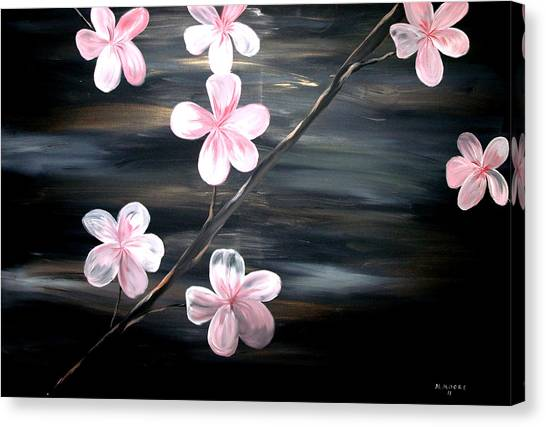 Silver Moonlight Canvas Print - Cherry Blossom  by Mark Moore