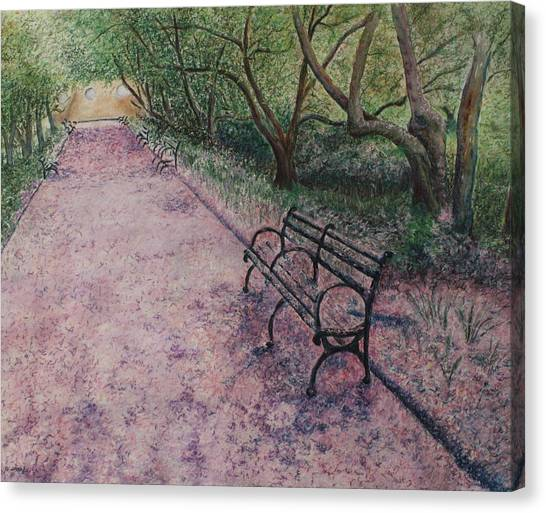 Canvas Print - Cherry Blossom Pathway by Patsy Sharpe