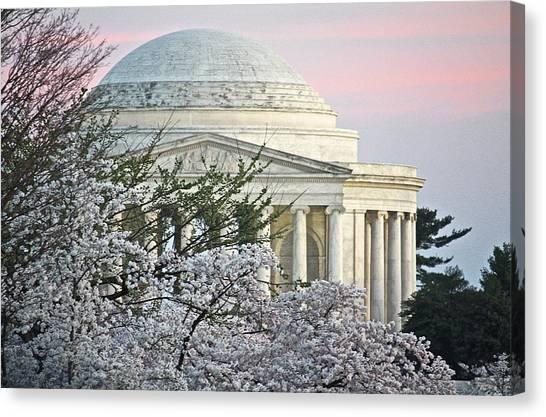 Cherry Blossom Sunset Canvas Print