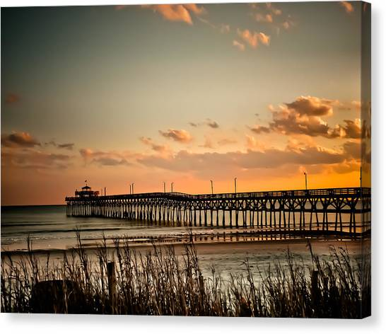 Cherry Grove Pier Myrtle Beach Sc Canvas Print
