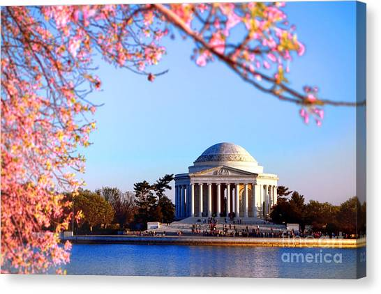 Jefferson Memorial Canvas Print - Cherry Jefferson by Olivier Le Queinec