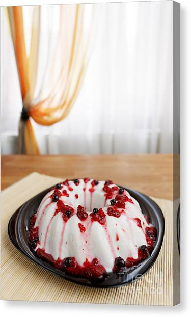 Cherry Jelly Cake Canvas Print by Ciprian Kis