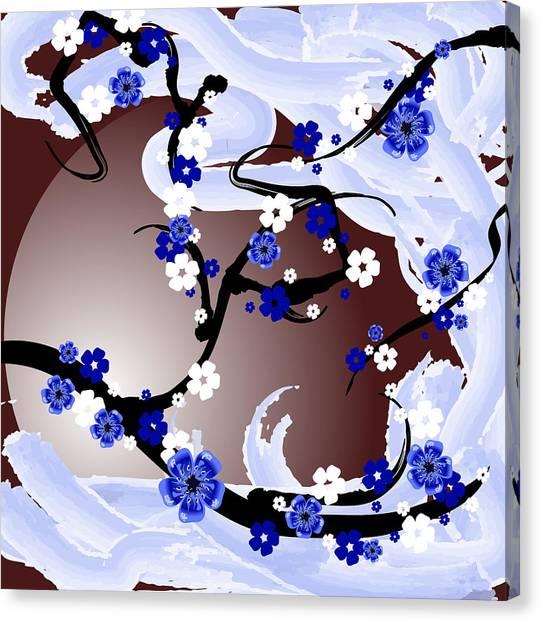 Cherry Tree_wisperwind Canvas Print by Mellisa Ward