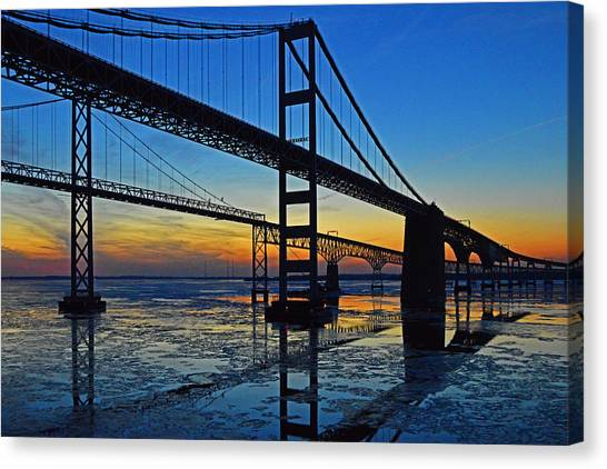 Chesapeake Bay Bridge Reflections Canvas Print