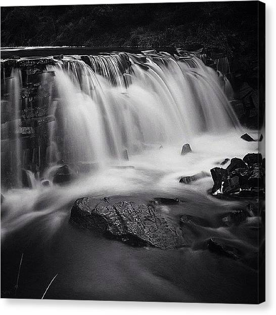 Tumbling Canvas Print - Cheshire Waterfall by Phil Tomlinson