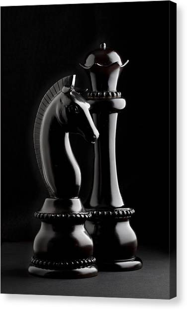Knights Canvas Print - Chess IIi by Tom Mc Nemar