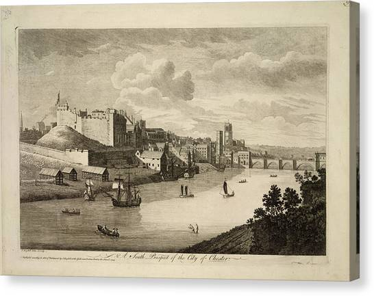 Cheshire Canvas Print - Chester by British Library