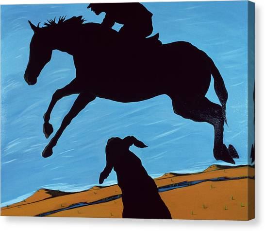 Maryland Horses Canvas Print - Chestertown Trials, 1999 by Marjorie Weiss