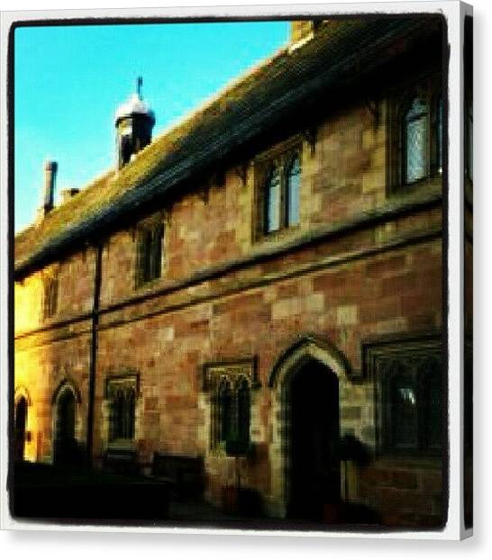 Medieval Art Canvas Print - Chetham's School Of Music / My Old by Angela Seager