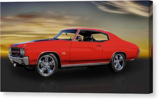 1970 Chevelle Ss 454 Canvas Print