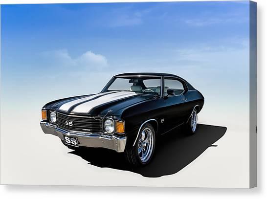 American Car Canvas Print - Chevelle Ss by Douglas Pittman