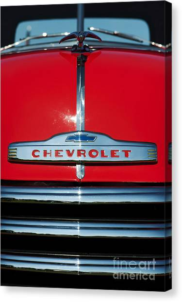 Front End Canvas Print - Chevrolet 3100 1953 Pickup by Tim Gainey