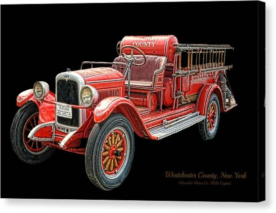 Nyfd Canvas Print - Chevrolet Capitol Circa 1926 by Diana Angstadt