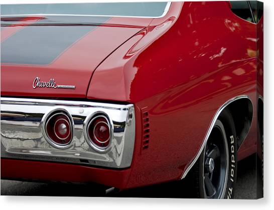Chevelle Canvas Print - Chevrolet Chevelle Ss Taillight Emblem 3 by Jill Reger