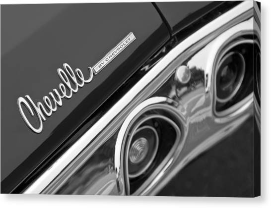 Chevelle Canvas Print - Chevrolet Chevelle Ss Taillight Emblem by Jill Reger