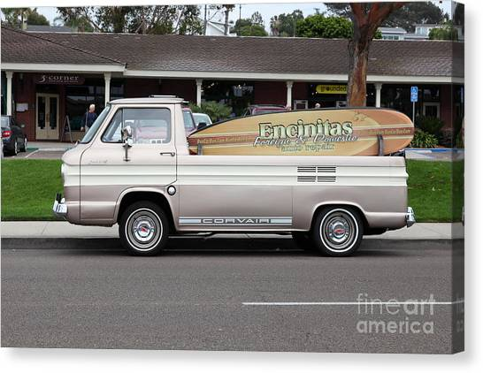 Chevrolet Corvair 95 Open Top Van 5d24225 Canvas Print by Wingsdomain Art and Photography