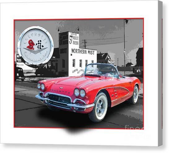 Chevrolet Corvette 1962 Canvas Print by Dan Knowler
