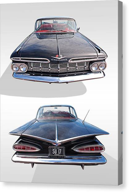 Chevrolet Impala 1959 Front And Rear Canvas Print